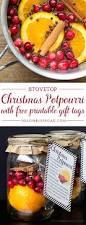 diy gift idea christmas potpourri with free printable free