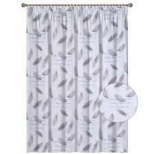 lined sheer taped curtain feather white curtains décor home