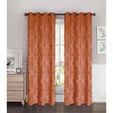 Orange And Beige Curtains Rust Semi Opaque Orange Curtains U0026 Drapes Window