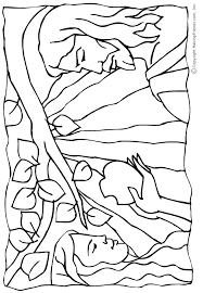 adam eve coloring pages forbidden apple coloringstar
