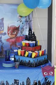 pj masks birthday party pj mask birthdays superhero party