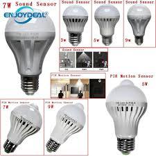 pir led light bulb led motion sensor night light e27 led light bulb 3w 5w 7w 9w 12w