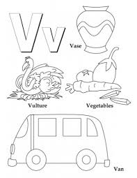 letter v coloring pages funycoloring