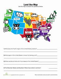 land use map worksheet education com