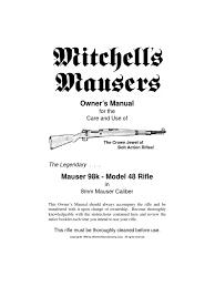 mauser 98k model 48 rifle manual rifle magazine firearms