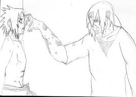 sasuke and itachi u0027s last moment sketch by tigernose123 on deviantart