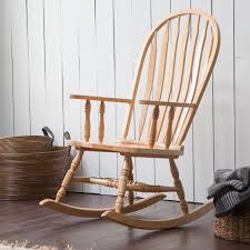 Outdoor Rocking Chairs For Heavy Belham Living Windsor Indoor Wood Rocking Chair U2013 Natural Hayneedle