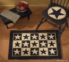 Country Primitive Rugs Primitive Hooked Rugs Star Quilt Homestead Saltbox