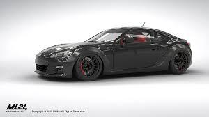 black subaru brz ml24 automotive design prototyping and body kits