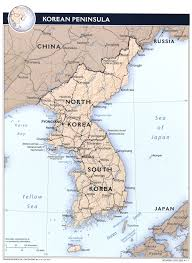 Map Of World Korea by