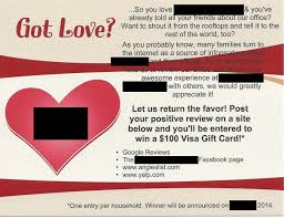 win gift cards online you should not offer a reward for positive online reviews