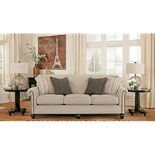ashley furniture queen sleeper sofa amazon com ashley sansimeon queen sleeper sofa in stone kitchen