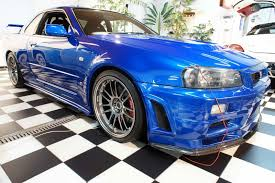 nissan r34 fast and furious paul walker u0027s fast u0026 furious r34 nissan skyline gt r front quarter