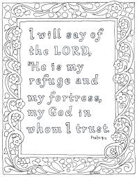 coloring pages for kids by mr adron the lord is my refuge bible