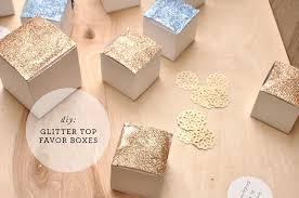 favor boxes diy glitter top favor boxes