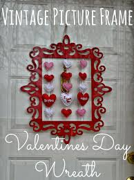 vintage picture frame valentine u0027s day wreath diy building our story