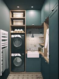 basement bathroom laundry room ideas white wooden sink cabinet