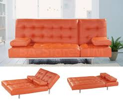 Orange Sofa Bed by