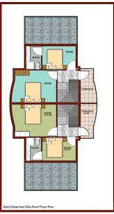 property in turkey semi detached villa roof floor plan
