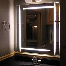 Bathroom Mirror With Lights Built In Bathroom Mirror With Lights Around It Home Design Ideas