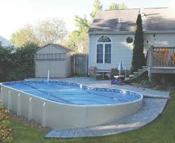 contemporary outdoor design with enchanting semi inground pools
