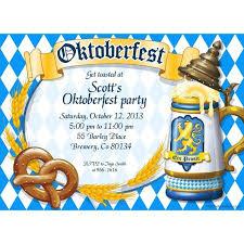 oktoberfest birthday invitations