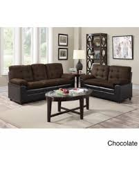 amazing deal on two tone microfiber sofa and loveseat set gray