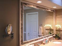 Wood Bathroom Mirror by Large Mirrored Frames U2013 Amlvideo Com