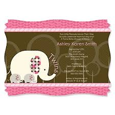 twin pink baby elephants baby shower decorations u0026 theme