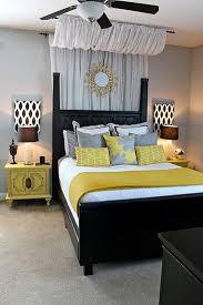 Black Wooden Bed Frames Yellow Toss Pillows And Black Wooden Bed Frame For Master