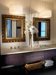 Lighting Ideas For Bathrooms Delectable Bathroom With Charming Two Hanging Drum Lights
