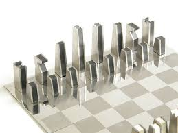 stainless steel chess set at stdibs within gallery including