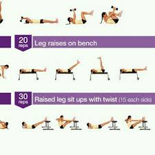 Leg Lift Bench Bent Leg Raises With Hip Lift Exercise How To Workout Trainer