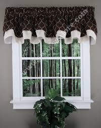 Drapery Valances Styles Bleeker Embroidered Layered Scalloped Curtain Valance Truffle By