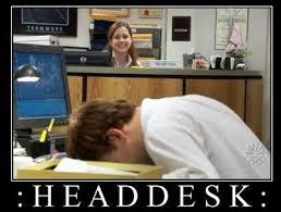 Head Desk Meme - five epic attempts at website building a facebook fail roni loren