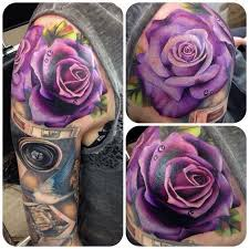 the 25 best colorful rose tattoos ideas on pinterest black red