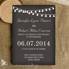 chalkboard wedding invitations classic string lights chalkboard wedding invites iwi340 wedding