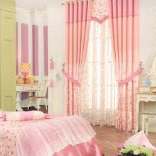 country style pink curtain panels floral patterns