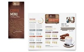 coffee shop menu template word u0026 publisher
