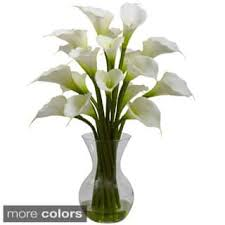 Vases With Fake Flowers Artificial Plants For Less Overstock Com