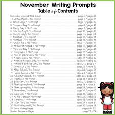 november writing prompts for kindergarten to second grade by the