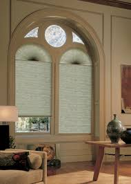 arch window blinds that open and close decoration