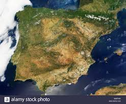 Map Of Portugal And Spain This Modis True Color Image Shows A Relatively Cloud Free View Of