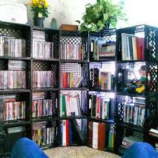 Crate Bookcase Do It Yourself Bookshelf Get Milk Crates From Local Grocery Store
