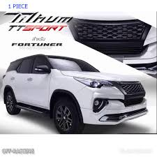 suv toyota 2017 net front grille black sport style grill fits toyota fortuner suv