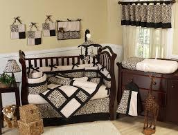 brown animal leopard print baby bedding 9pc nursery crib