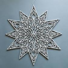 19 silver glitter snowflake hanging decoration