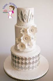 navy blue spring wedding cake veena azmanov