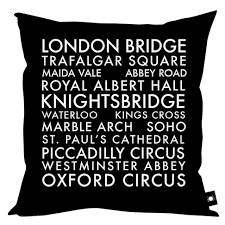london iconic bus blind home decor cushion