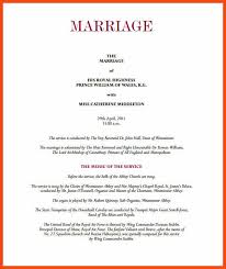 wedding program layouts sle wedding programs program format